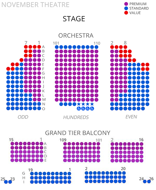 Virginia Rep November Theatre Seating Chart 2017 18